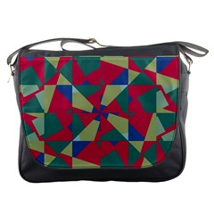 Shapes In Squares Pattern Messenger Bag by LalyLauraFLM