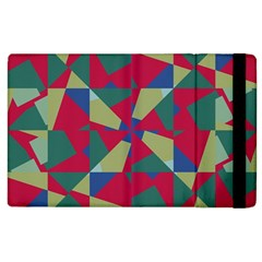 Shapes In Squares Pattern Apple Ipad 3/4 Flip Case by LalyLauraFLM