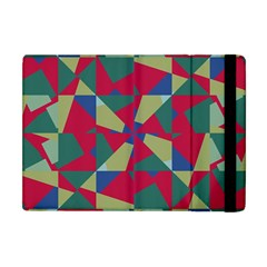 Shapes In Squares Pattern Apple Ipad Mini Flip Case by LalyLauraFLM