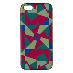 Shapes In Squares Pattern Apple Iphone 5 Premium Hardshell Case by LalyLauraFLM
