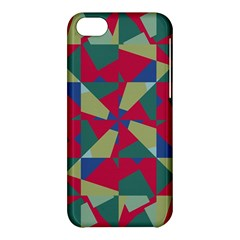 Shapes In Squares Pattern Apple Iphone 5c Hardshell Case by LalyLauraFLM