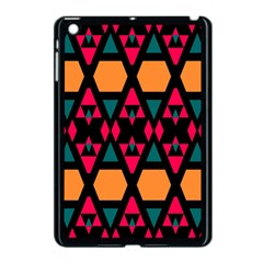Rhombus And Other Shapes Pattern Apple Ipad Mini Case (black) by LalyLauraFLM