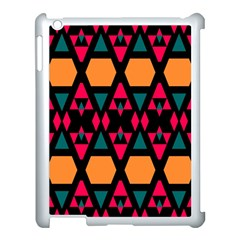 Rhombus And Other Shapes Pattern Apple Ipad 3/4 Case (white) by LalyLauraFLM