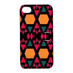 Rhombus And Other Shapes Pattern Apple Iphone 4/4s Hardshell Case With Stand by LalyLauraFLM