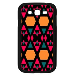 Rhombus And Other Shapes Pattern Samsung Galaxy Grand Duos I9082 Case (black) by LalyLauraFLM
