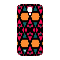Rhombus And Other Shapes Pattern Samsung Galaxy S4 I9500/i9505  Hardshell Back Case by LalyLauraFLM