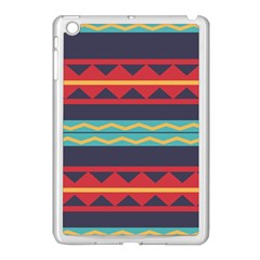 Rhombus And Waves Chains Pattern Apple Ipad Mini Case (white) by LalyLauraFLM