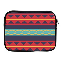 Rhombus And Waves Chains Pattern Apple Ipad 2/3/4 Zipper Case by LalyLauraFLM