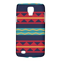 Rhombus And Waves Chains Pattern Samsung Galaxy S4 Active (i9295) Hardshell Case by LalyLauraFLM