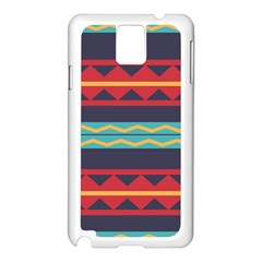Rhombus And Waves Chains Pattern Samsung Galaxy Note 3 N9005 Case (white) by LalyLauraFLM