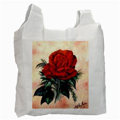 Red Rose #2 Recycle Bag (two Side)  by ArtByThree