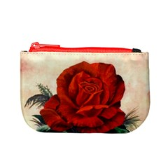 Red Rose #2 Mini Coin Purses by ArtByThree