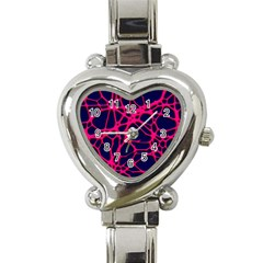 Hot Web Pink Heart Italian Charm Watch by ImpressiveMoments