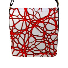 Hot Web Red Flap Messenger Bag (l)  by ImpressiveMoments