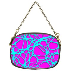 Hot Web Turqoise Pink Chain Purses (two Sides)  by ImpressiveMoments