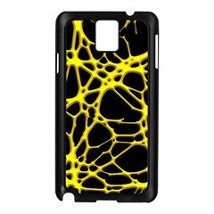 Hot Web Yellow Samsung Galaxy Note 3 N9005 Case (black) by ImpressiveMoments