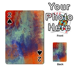 Abstract In Green, Orange, And Blue Playing Cards 54 Designs