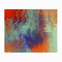 Abstract In Green, Orange, And Blue Small Glasses Cloth (2-side) by digitaldivadesigns