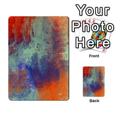 Abstract In Green, Orange, And Blue Multi Purpose Cards (rectangle)  by digitaldivadesigns