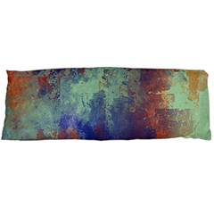 Abstract In Green, Orange, And Blue Body Pillow Cases (dakimakura)  by digitaldivadesigns