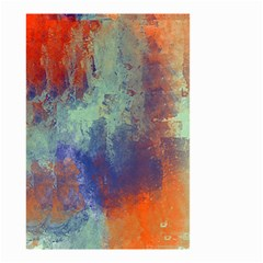Abstract In Green, Orange, And Blue Small Garden Flag (two Sides) by digitaldivadesigns