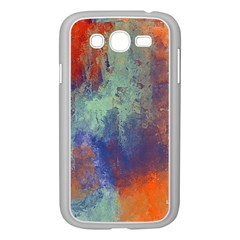 Abstract In Green, Orange, And Blue Samsung Galaxy Grand Duos I9082 Case (white) by digitaldivadesigns