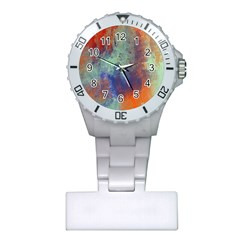 Abstract In Green, Orange, And Blue Nurses Watches by digitaldivadesigns