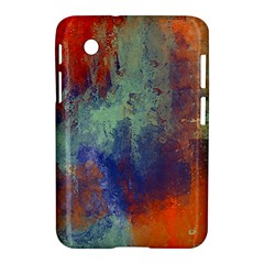 Abstract In Green, Orange, And Blue Samsung Galaxy Tab 2 (7 ) P3100 Hardshell Case  by digitaldivadesigns