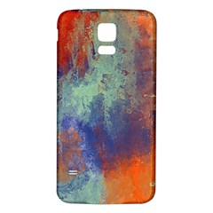 Abstract In Green, Orange, And Blue Samsung Galaxy S5 Back Case (white) by digitaldivadesigns