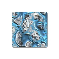 Metal Art 11, Blue Square Magnet by MoreColorsinLife