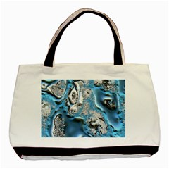 Metal Art 11, Blue Basic Tote Bag (two Sides)  by MoreColorsinLife