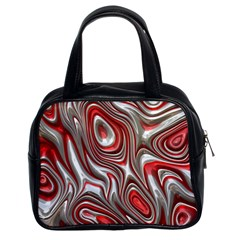 Metal Art 9 Red Classic Handbags (2 Sides) by MoreColorsinLife