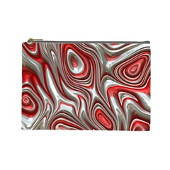 Metal Art 9 Red Cosmetic Bag (large)  by MoreColorsinLife