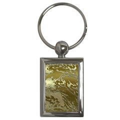 Metal Art Swirl Golden Key Chains (rectangle)  by MoreColorsinLife