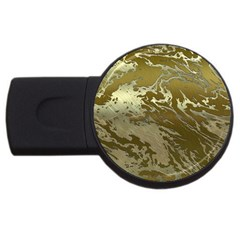 Metal Art Swirl Golden Usb Flash Drive Round (4 Gb)  by MoreColorsinLife