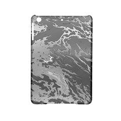 Metal Art Swirl Silver Ipad Mini 2 Hardshell Cases by MoreColorsinLife