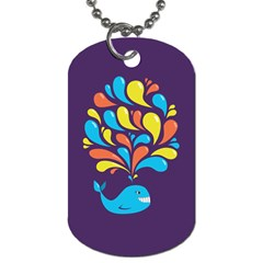 Colorful Happy Whale Dog Tag (two Sides) by CreaturesStore