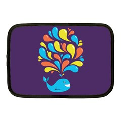 Colorful Happy Whale Netbook Case (medium)  by CreaturesStore