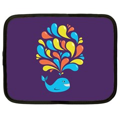 Colorful Happy Whale Netbook Case (large)	 by CreaturesStore