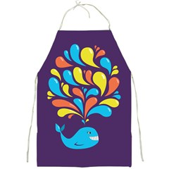 Colorful Happy Whale Apron by CreaturesStore
