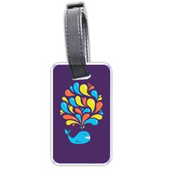 Colorful Happy Whale Luggage Tags (one Side)  by CreaturesStore