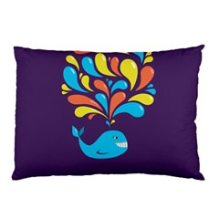Colorful Happy Whale Pillow Case (two Sides) by CreaturesStore