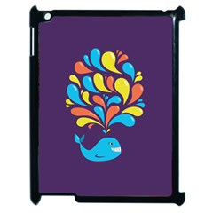 Colorful Happy Whale Apple Ipad 2 Case (black) by CreaturesStore