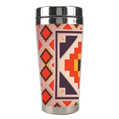 Rustic Abstract Design Stainless Steel Travel Tumbler by LalyLauraFLM