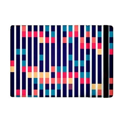 Stripes And Rectangles Pattern Apple Ipad Mini Flip Case by LalyLauraFLM
