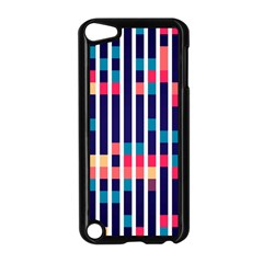 Stripes And Rectangles Pattern Apple Ipod Touch 5 Case (black) by LalyLauraFLM