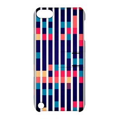 Stripes And Rectangles Pattern Apple Ipod Touch 5 Hardshell Case With Stand by LalyLauraFLM