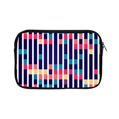 Stripes And Rectangles Pattern Apple Ipad Mini Zipper Case by LalyLauraFLM