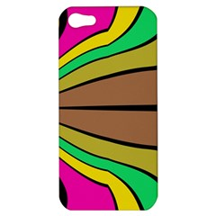 Symmetric Waves Apple Iphone 5 Hardshell Case by LalyLauraFLM