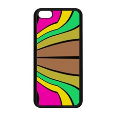 Symmetric Waves Apple Iphone 5c Seamless Case (black) by LalyLauraFLM